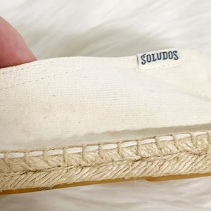 Soludos Shoes - Soludos x Madewell | White Striped Espadrilles